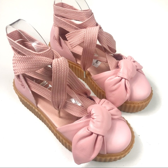 Puma Fenty by Rihanna Dusty Pink Creeper Sandals